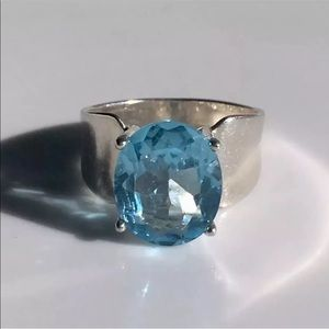 Jewelry - Sky Blue Topaz Sterling Silver Ring Size 7 UTC